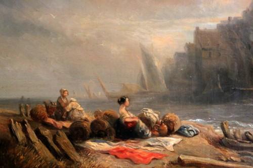 Paintings & Drawings  - Eugene Isabey (1804-1886)- Marine and animated maritime landscape.