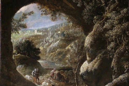 Paintings & Drawings  - David Téniers the Younger (1610-1690) -attributed-Animated Landscape circa