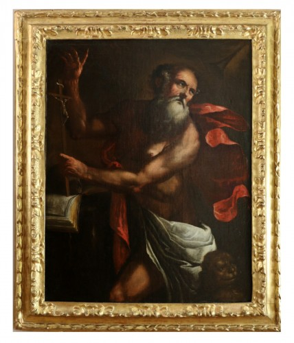 Luciano Borzone (Genoa, 1590-1645) and workshop. Saint Jerome