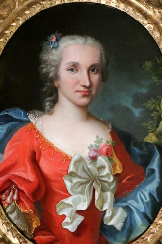 Portrait of a lady of quality, early 18th century - Paintings & Drawings Style French Regence
