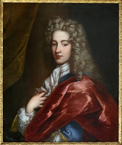 Portrait of a young man around 1700 - Workshop  Alexis Simon Belle (1674-1734) - Paintings & Drawings Style Louis XIV