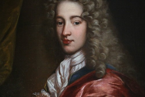 18th century - Portrait of a young man around 1700 - Workshop  Alexis Simon Belle (1674-1734)