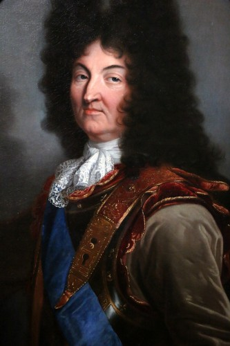 Hyacinthe Rigaud (1659-1743) and Atelier- Portrait of Louis XIV - Paintings & Drawings Style Louis XIV