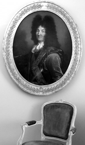 18th century -  Hyacinthe Rigaud (1659-1743) and Atelier- Portrait of Louis XIV