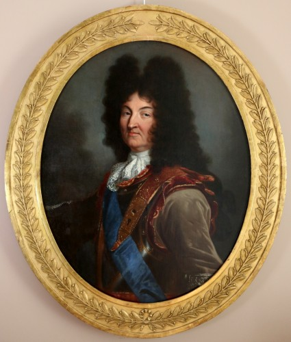 Hyacinthe Rigaud (1659-1743) and Atelier- Portrait of Louis XIV - Louis XIV
