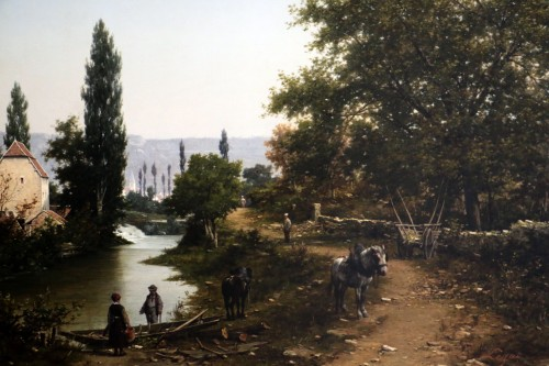 Léon Legat (born in 1829-Paris - Lively path along a river - Paintings & Drawings Style Napoléon III