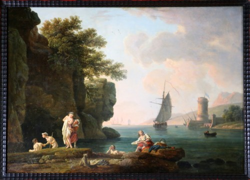 The bathers - nch school of the late 18th century - Paintings & Drawings Style Louis XVI
