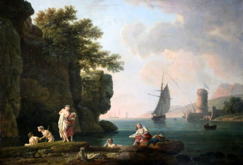 Paintings & Drawings  - The bathers - nch school of the late 18th century