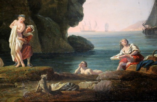 The bathers - nch school of the late 18th century -