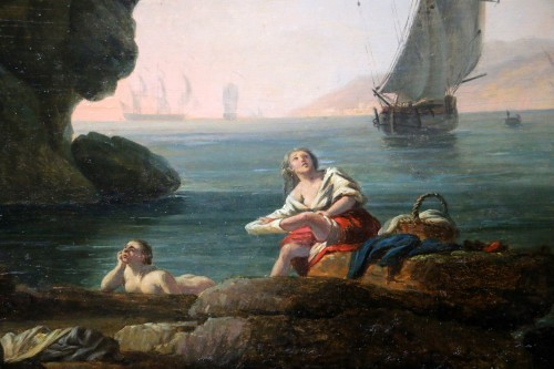 Antiquités - The bathers - nch school of the late 18th century