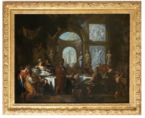 Le banquet de Cléopâtre - monogrammed GL and dated, Gérard de Lairesse (1641-1711)