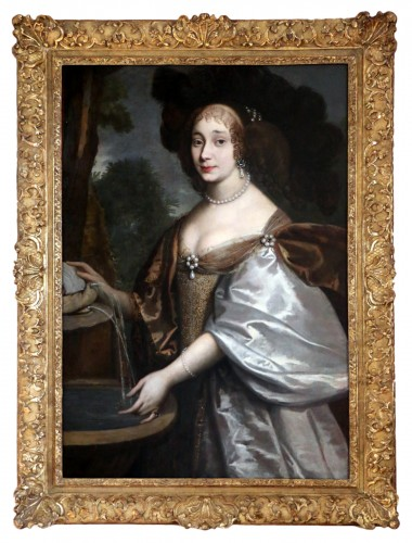 Portrait of a quality lady - Attributed to Louis Ferdinand I Elle (1612-1689), known as Elle le père