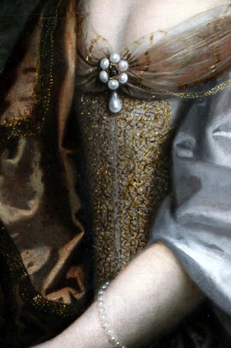 Portrait of a quality lady - Attributed to Louis Ferdinand I Elle (1612-1689), known as Elle le père -
