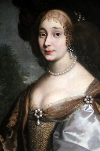 Portrait of a quality lady - Attributed to Louis Ferdinand I Elle (1612-1689), known as Elle le père - Louis XIV