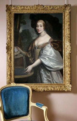Louis XIV -  Portrait of a quality lady - Attributed to Louis Ferdinand I Elle (1612-1689), known as Elle le père