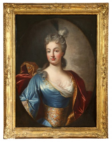 Portrait of a Lady of Quality  - French school of the 18th century