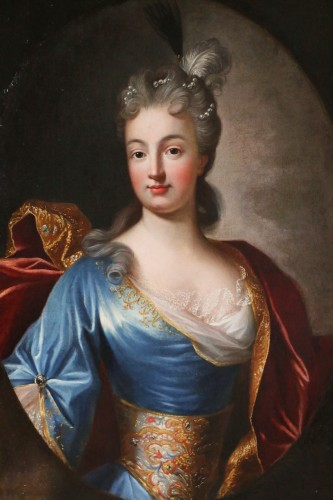 Portrait of a Lady of Quality  - French school of the 18th century - Paintings & Drawings Style Louis XIV
