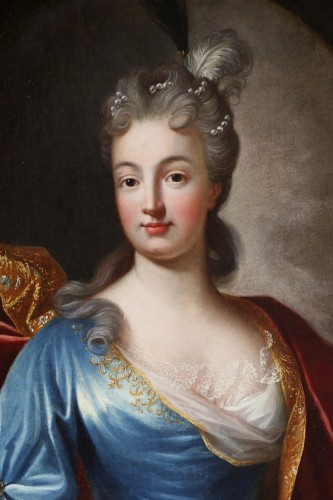 Paintings & Drawings  - Portrait of a Lady of Quality  - French school of the 18th century