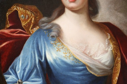 Portrait of a Lady of Quality  - French school of the 18th century -