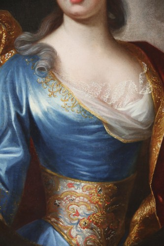 18th century - Portrait of a Lady of Quality  - French school of the 18th century