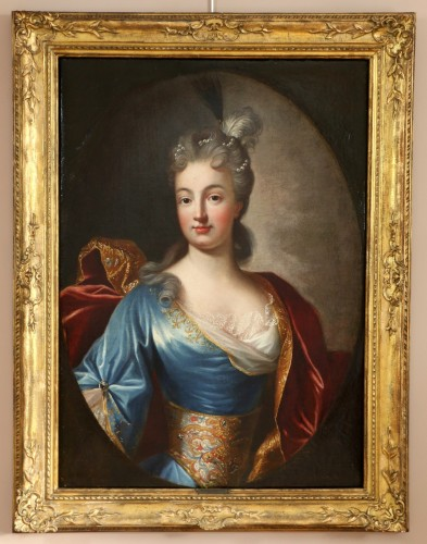 Portrait of a Lady of Quality  - French school of the 18th century - Louis XIV