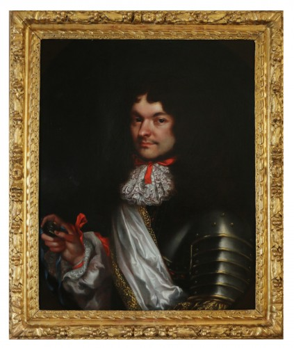 Portrait of a gentleman in armor - attributed to Pierre Mignard (1612-1695)