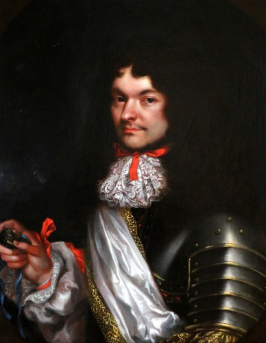 Portrait of a gentleman in armor - attributed to Pierre Mignard (1612-1695) - Paintings & Drawings Style Louis XIV
