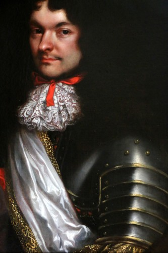Paintings & Drawings  - Portrait of a gentleman in armor - attributed to Pierre Mignard (1612-1695)