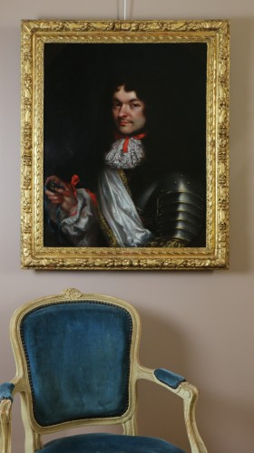 Louis XIV - Portrait of a gentleman in armor - attributed to Pierre Mignard (1612-1695)