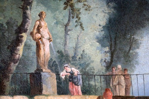Louis XVI - Bucolic scene in a park. - attributed to Hubert Robert and his workshop