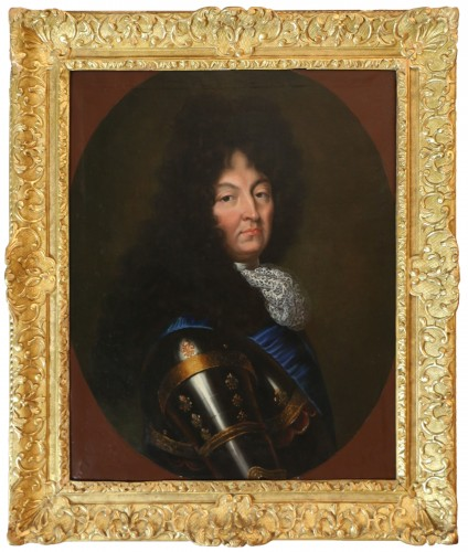 Portrait of Louis XIV - French school circa 1680-1690