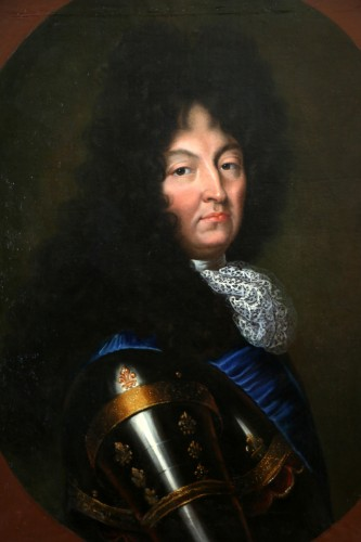 Portrait of Louis XIV - French school circa 1680-1690 - Paintings & Drawings Style Louis XIV