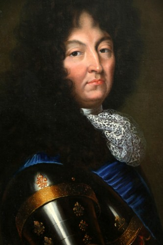 Paintings & Drawings  - Portrait of Louis XIV - French school circa 1680-1690