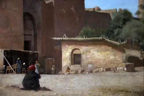 Henri Regnault (1843-1871) -Orientalist school-animated scene in front of  -