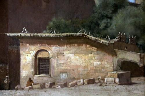 19th century -  Henri Regnault (1843-1871) -Orientalist school-animated scene in front of