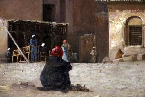 Henri Regnault (1843-1871) -Orientalist school-animated scene in front of  - Napoléon III