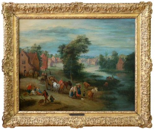 Théobald Michau (1676 Tournai, 1765 Antwerp) village scene