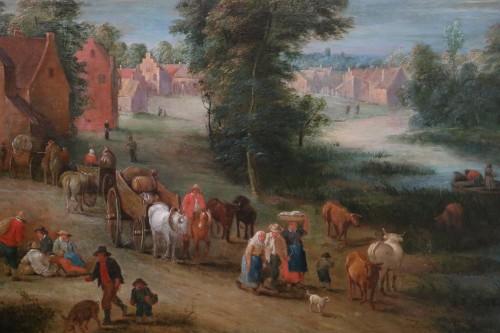 Paintings & Drawings  - Théobald Michau (1676 Tournai, 1765 Antwerp) village scene