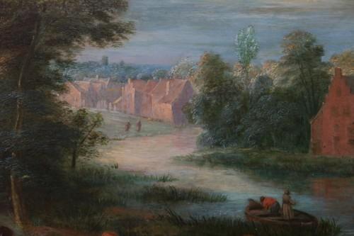 Théobald Michau (1676 Tournai, 1765 Antwerp) village scene  -