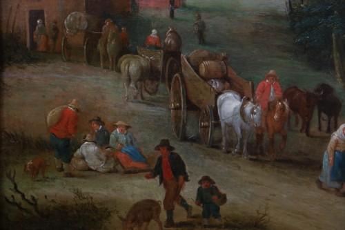 Théobald Michau (1676 Tournai, 1765 Antwerp) village scene  - Louis XIV