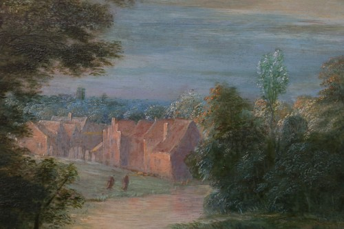 Antiquités - Théobald Michau (1676 Tournai, 1765 Antwerp) village scene
