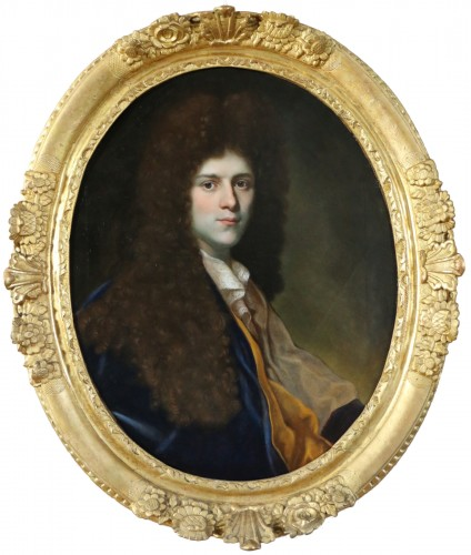 Portrait - French school circa 1700 attributed to Jean Ranc (164-1735)