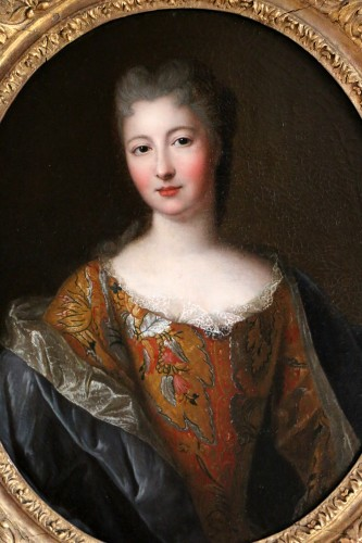 Presumed portrait of Françoise Marie de Bourbon attributed to Pierre Gobert - Paintings & Drawings Style Louis XIV