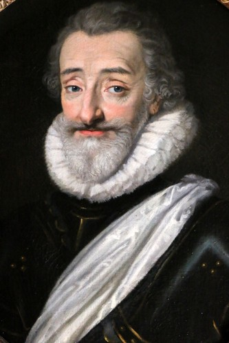 Portrait of Henri IV (1553, 1610), French school from the end of the 18th  - Paintings & Drawings Style Transition