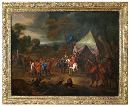 Jean Baptiste Martin des batailles (1659, 1735) - L'armée de Louis XIV en campement
