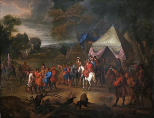 Jean Baptiste Martin des batailles (1659, 1735) - L'armée de Louis XIV en campement - Paintings & Drawings Style Louis XIV