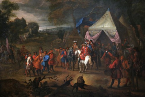 Paintings & Drawings  - Jean Baptiste Martin des batailles (1659, 1735) - L'armée de Louis XIV en campement