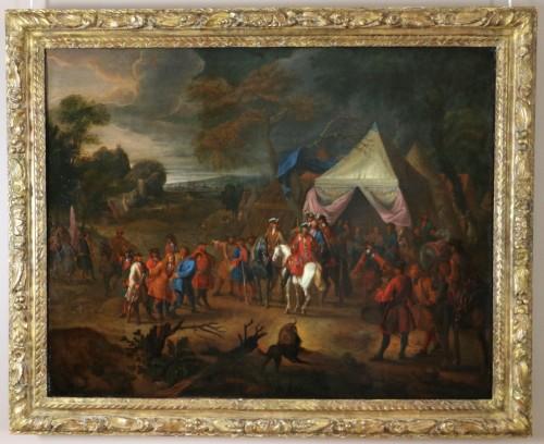 Antiquités - Jean Baptiste Martin des batailles (1659, 1735) - L'armée de Louis XIV en campement