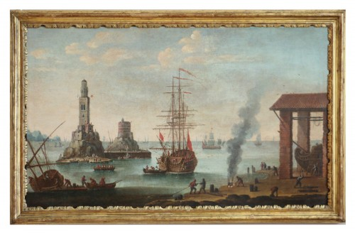 Marine - Atributed  to Alessandro Grevenbroeck (born in the 17th century in Padua)