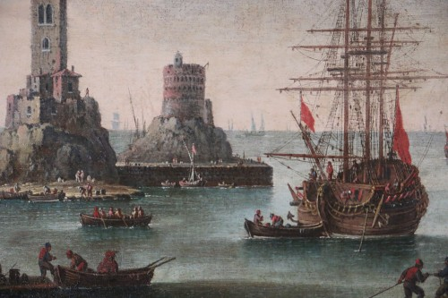 Marine - Atributed  to Alessandro Grevenbroeck (born in the 17th century in Padua) -